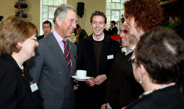 HRH Prince Charles with Prince's Trust members at a recent function