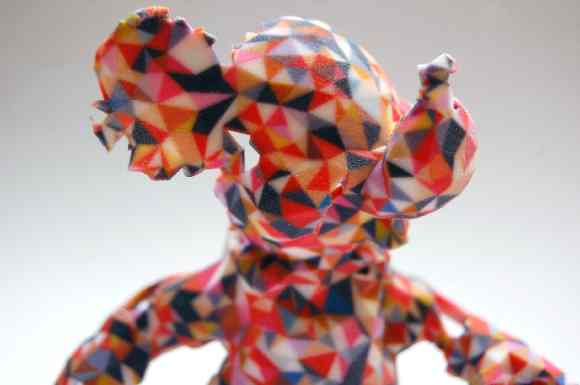 An example of a 3D printed model elephant