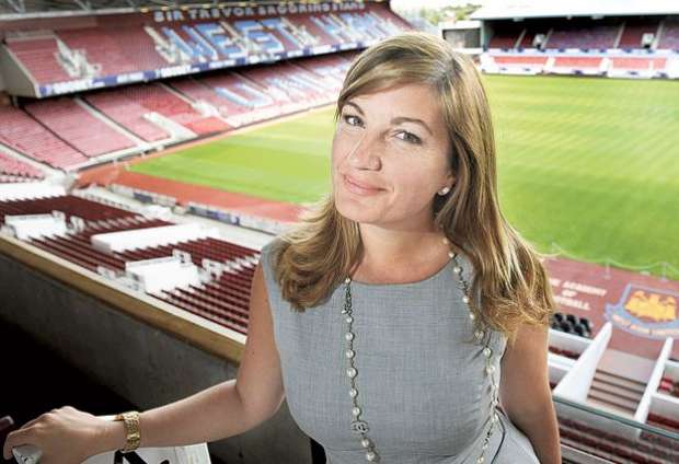 Trail blazer Brady. Karren Brady sits on the board of a number of companies like Emap & Mothercare