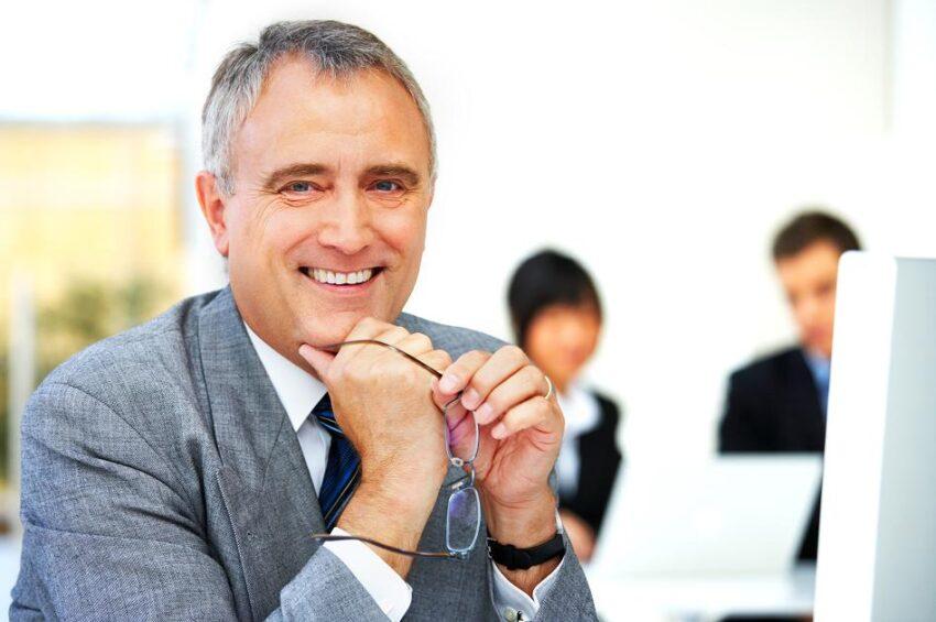 Senior executive business man