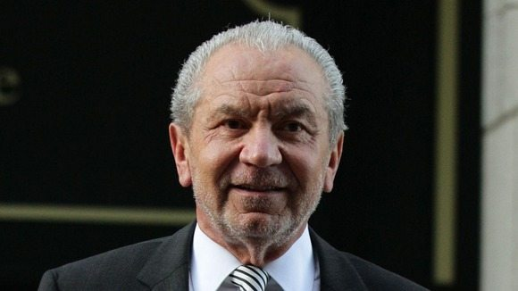 Lord Sugar outside the east London Employment Tribunal