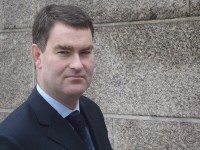 David Gauke MP outside his office at The Treasury