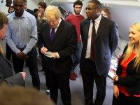 Tottenham Hotspur ambassador Ledley King, Mayor of London Boris Johnson, Tottenham MP David Lammy with Jasmine Hetherington-Wilkes at the launch