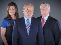 Lord Sugar with his accomplices Karren Brady & Nick Hewer