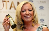 Mone pictured at the launch of her ther non-lingerie business U-Tan the self tanning product range