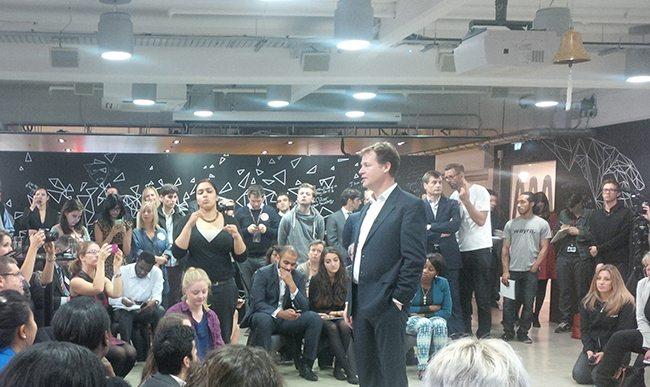 Nick Clegg at Wayra UnLtd
