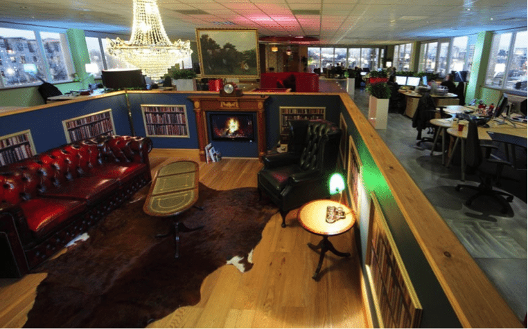 Coolest office spaces in the uk for Well designed office spaces