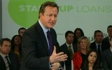 David Cameron at the launch of Startup Loans to help new businesses launch