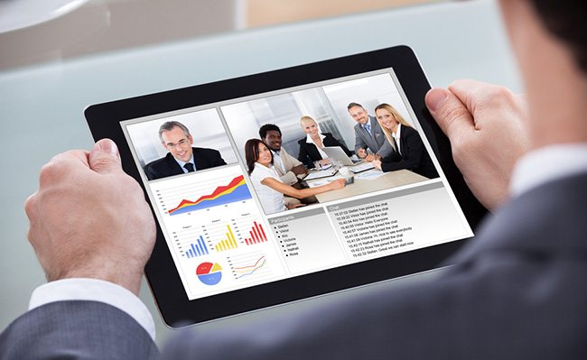 Video conferencing services in business, education
