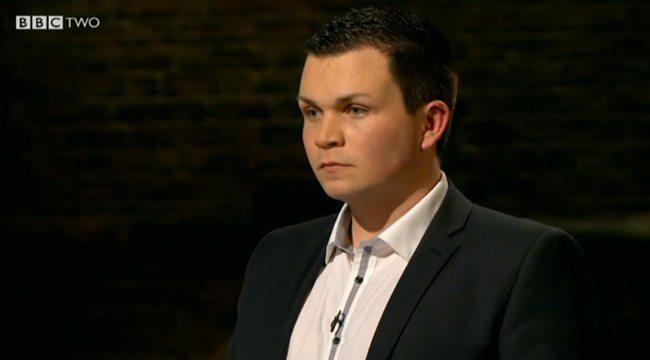 Jordan Daykin pitching his business to the TV Dragons' & securing Deborah Meaden invests