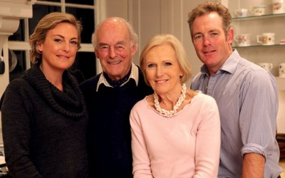 Mary Berry has sold her food firm and made sure husband Paul (second from left) and children Annabel (left) and Tom (right) will all profit