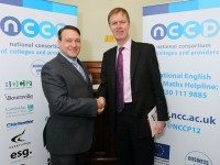 NCCP Chair, Harvey Young with Shadow Employment Minister Stephen Timms MP