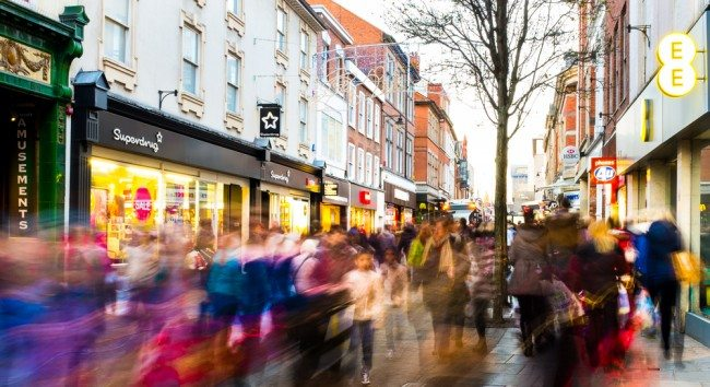 UK shoppers cast off January blues with return to the high street