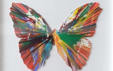 Damien Hirst's 'spin painting' with butterflies