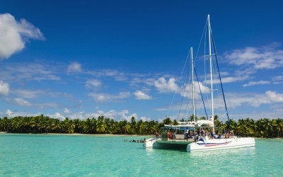 The 80ft catamaran workspaces which combine business & pleasure