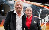 Virgin boss Richard Branson with Tammy Moreton