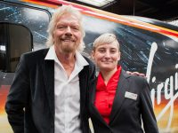 Virgin boss Richard Branson with Tammy Moreton