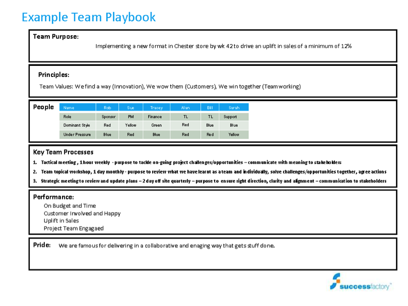 How to get the best from your team using the 6Ps Team Playbook process