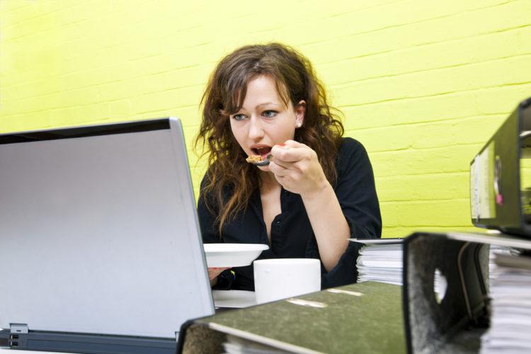 stress eating woman