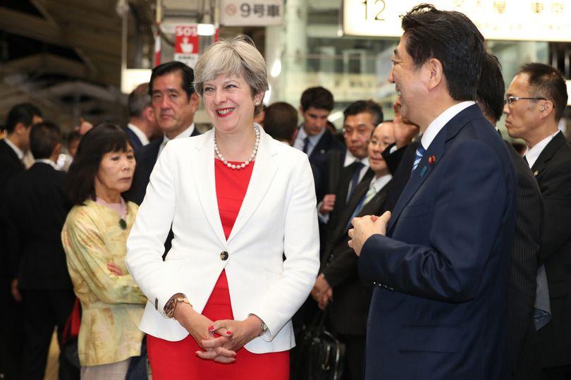 Britains Prime Minister Theresa May