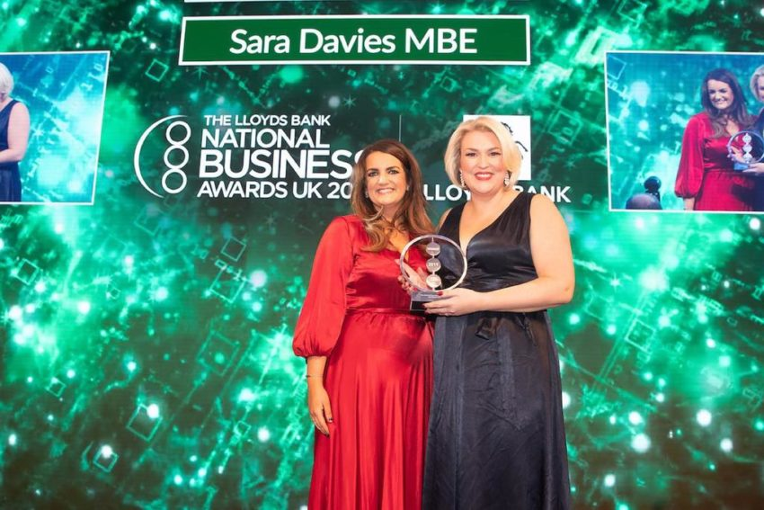 Sarah Austin with Sara Davies MBE