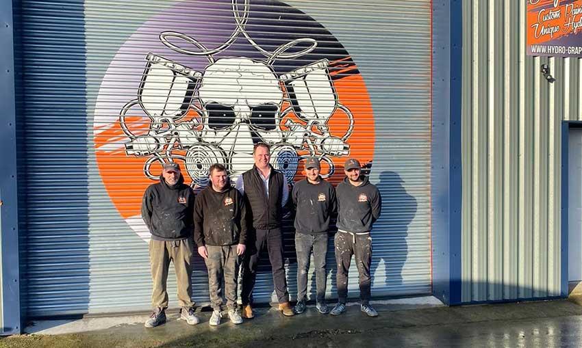 Hydrographics team & Charles Fawcett