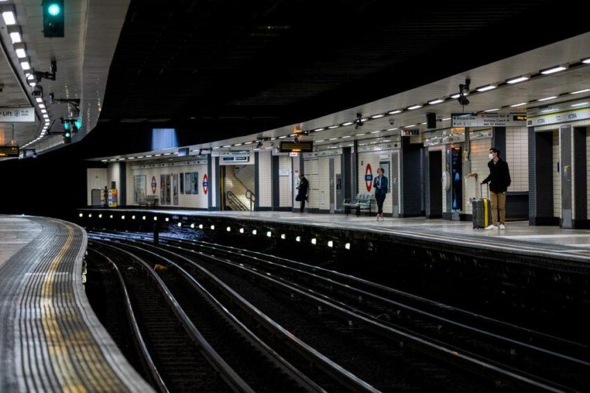 Empty London Underground