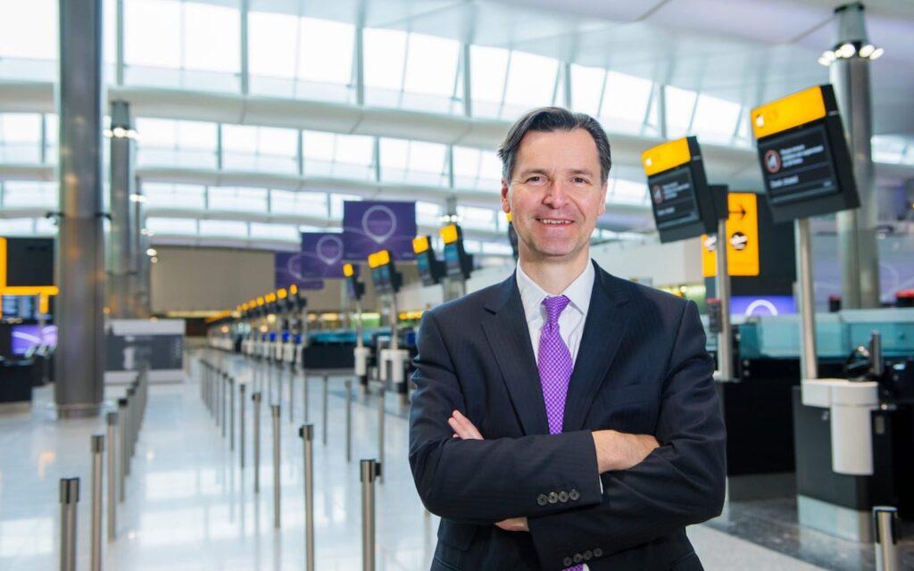 John Holland-Kaye at Heathrow Airport