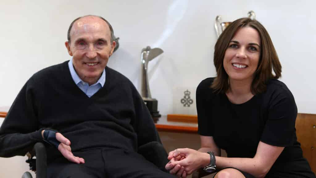 Frank Williams and Claire Williams