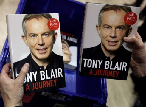 Egg on Tony Blair's new book, but not on his face