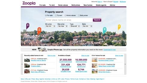Property website Zoopla.co.uk raises a further £3.25M to fund further growth
