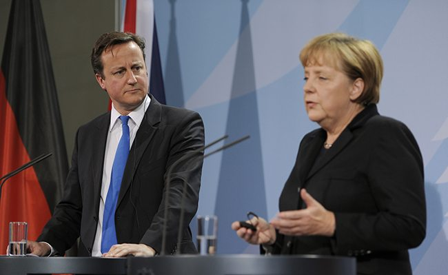 Many UK small business owners believe that David Cameron should look to Angela Merkel's economic success