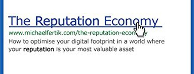 Book Shelf: The Reputation Economy by Michael Fertik
