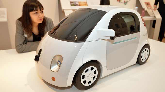 A prototype of Google's self driving cars