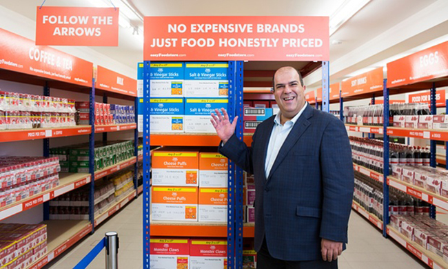 Stelios Haji-Ioannou opens easyFoodstore with 25p offer