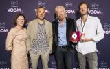 Maria Clarke, Director of Business Development, JC Decaux, Rob Love, Chairman of Crowdfunder, Richard Branson, and Olly Bolton, Founder of What A Melon