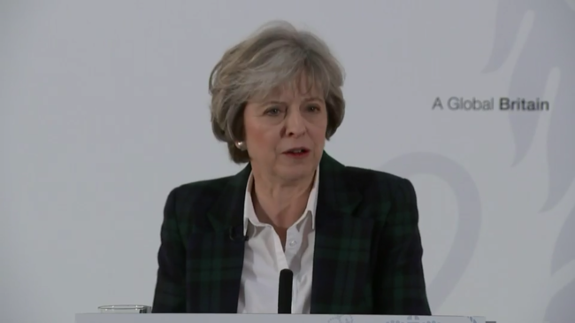 Theresa May Brexit speech