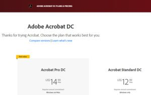 price for adobe acrobat pro dc
