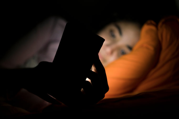 emails in bed