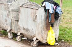 thrown away clothing