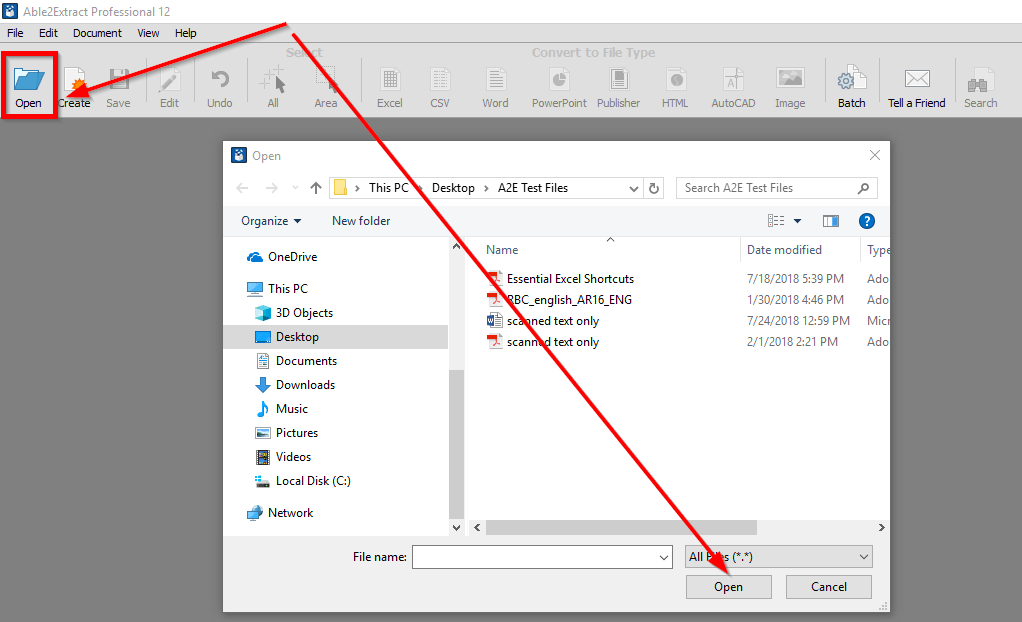 How to convert any printable file to Excel