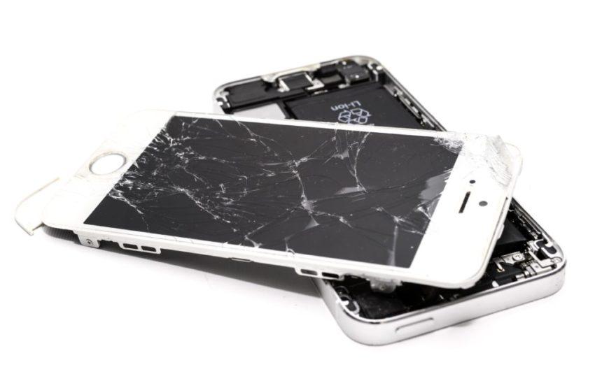accident broken cellphone