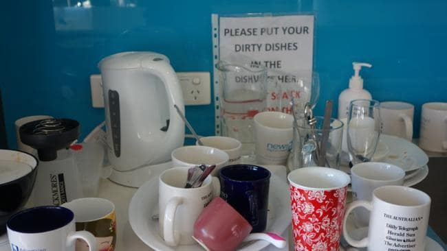 dirty office kitchen
