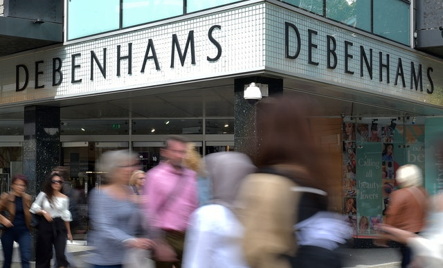 Debenhams shares plunge