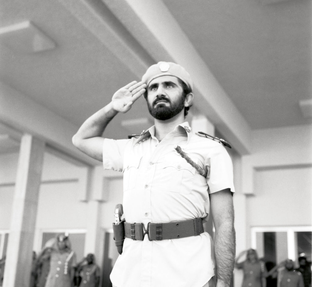 Sheikh Mohammed In Military Uniform #04